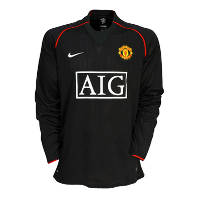 Manchester United 07/08 Black Away Kit Front