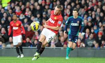 Cleverley scores v Sunderland Dec 2012