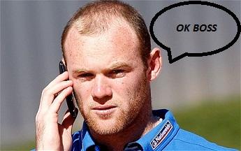 Rooney on phone