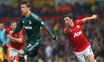 Cristiano Ronaldo gives Rafael da Silva the runaround