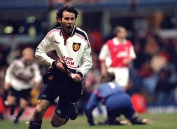 Giggs celebration v Arsenal 99 FA Cup