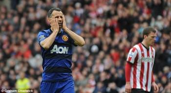 Giggs distraught at Sunderland May 2012