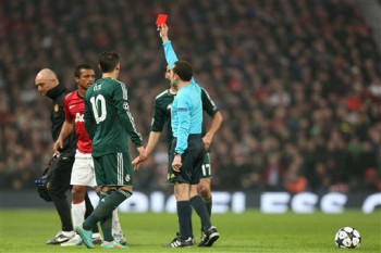 Nani red card v Madrid March 2013