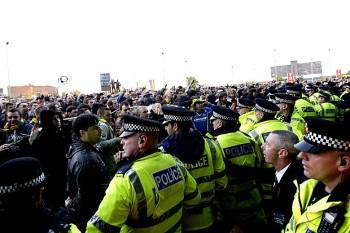 Glazer Protest outside Old Trafford