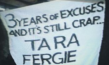 Sack Fergie Banner