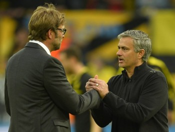 Klopp with Mourinho