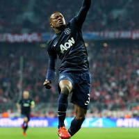 Patrice Evra celebrates