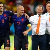 Robben Van Persie and Van Gaal