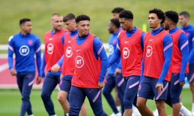 Jadon Sancho and teammates